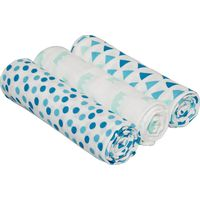 Lässig Swaddle & Burp Blanket L - Little King&Queen Boys