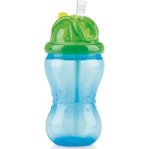 Flip-It Rietjesbeker 360 ml Blauw - Nuby