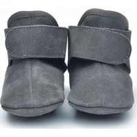 Lodger Leren Babyslofjes 12-15m Dark Grey