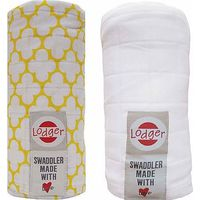 Lodger Swaddler 2-pack Gold/White