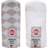 Hydrofiele Doeken Swaddler 2-Pack Shell/White - Lodger