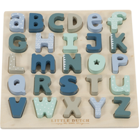 Little Dutch Puzzel Hout Letters - Blauw