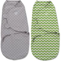 Swaddle Me Premium Small Groen Zigzag & Grijs Stip 2-pack - Summer (UL)