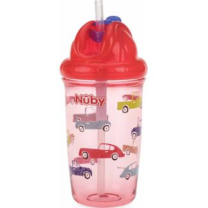 Nuby Flip-It Antilekbeker Met Flip Dop En Rietje - Cars
