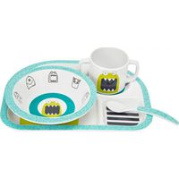 Lässig Melamine Servies Set 4- Delig Little Monsters - Bouncing Bob