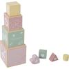 Little Dutch Houten Stapelblokken - Adventure Pink
