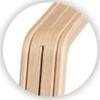 Nomi Stem (poot) - Oak / Beech White Oiled