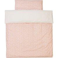 Trixie Dekbedovertrek Ledikant 100x135cm - Pebble Pink