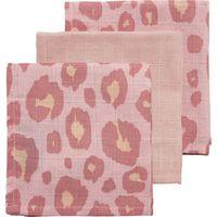 Meyco Hydrofiele Monddoekjes Panter Pink- Uni Lichtroze-Panter Pink