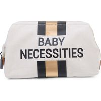 Childhome Baby Necessities Toilettas Canvas - OffWhite Stripes Black/Gold