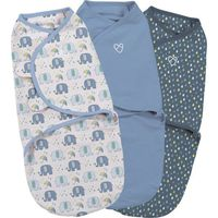 Swaddle Me Elephant Splash Small/Medium - 3-pack - Summer