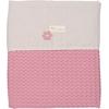 Koeka Ledikantdeken Antwerp 100x150cm - Blush Pink/Pebble(UL)