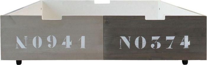 Bopita Lade 90x100 Basic Wood Mixed Colours Natural/Grey