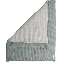 Koeka Boxkleed Wafel Amsterdam Sapphire/Silver Grey 80x100 cm