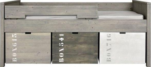 Tienerkamer Basic Wood.Bopita Compactbed 90x200cm Basic Wood Gravel Wash Bij De Slaaphut