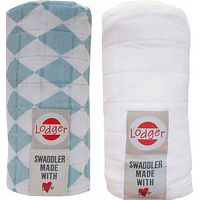 Lodger Swaddler 2-pack Silvercreek/White
