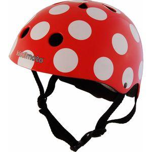 Kiddimoto Helm Red Dotty S