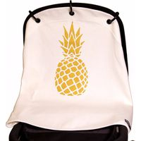 Kurtis Zonnekap Universele Cover - Pineapple White/Gold