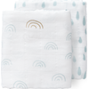 Fresk Swaddle Set 70x60cm Rainbow - Ether Blue