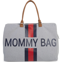 Childhome Verzorgingstas Mommy Bag Big - Grey Stripes Red/Blue
