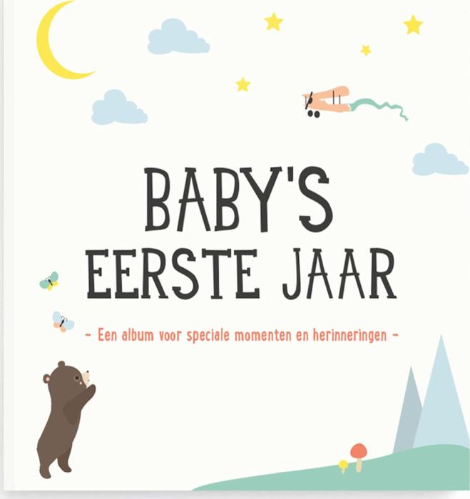 Milestone Fotoalbum - Baby's Eerste Jaar