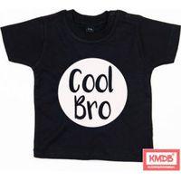 KMDB Shirt Korte Mouw Maat 86 Cool Bro - Zwart
