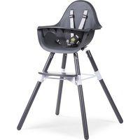 Childhome Evolu 2 Kinderstoel 2-in-1 Met Beugel - Antraciet/Antraciet