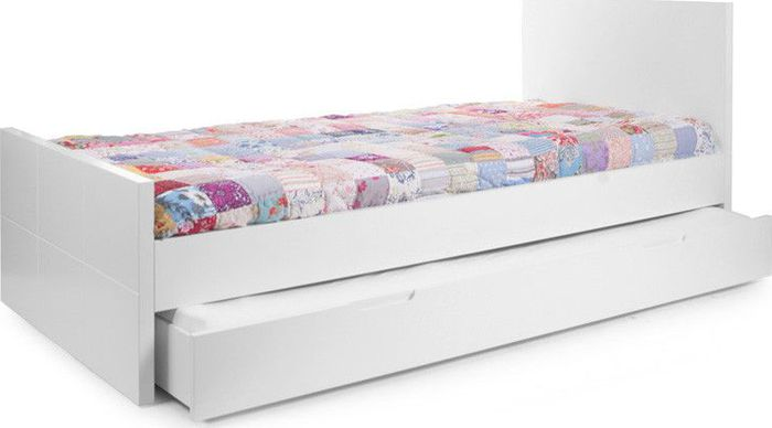 Childwood Quadro White - Lade Op Wieltjes Voor Tienerbed(lade wordt geleverd excl bed en matras)