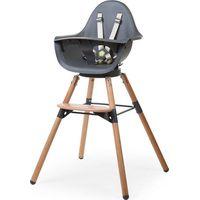 Childhome Evolu ONE.80° Kinderstoel 2-in-1 Met Beugel - Naturel/Antraciet