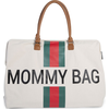 Childhome Verzorgingstas Mommy Bag Big - Off White Stripes Green/Red