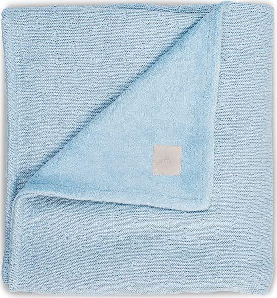 Jollein Deken 100x150cm Soft Knit Teddy - Soft Blue