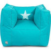 Jollein Kinderfauteuil Beanbag Faded Star - Aqua (UL)