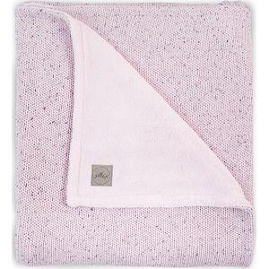 Jollein Deken 100x150cm Confetti Knit Fleece - Vintage Pink