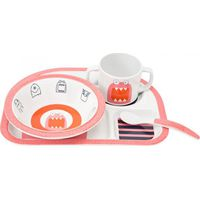 Lässig Melamine Servies Set 4- Delig Little Monsters - Mad Mabel (UL)