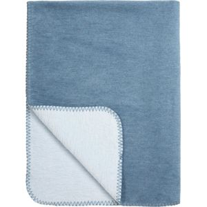 Meyco Wiegdeken Double Face Jeans/Lichtblauw