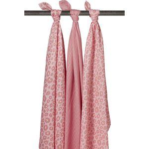 Meyco Swaddle Panter Pink - Uni Oudroze - Panter Pink