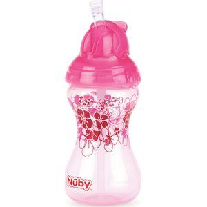 Drinkfles Met Rietje Click It Roze - Nuby