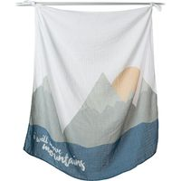 Lulujo Swaddle &Cards - I will Move Mountains