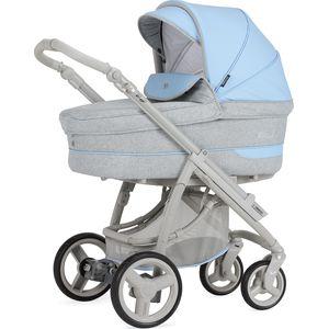 BebeCar Pack Ip-Op XL Kinderwagen - Grijs/Lichtblauw