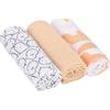 Lässig Swaddle & Burp Blanket L - Little Spookies Peach