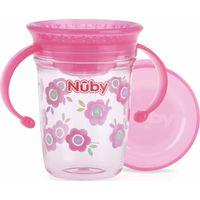 Nuby 360° Wonder Cup 240 ML Met Handvaten - Pink