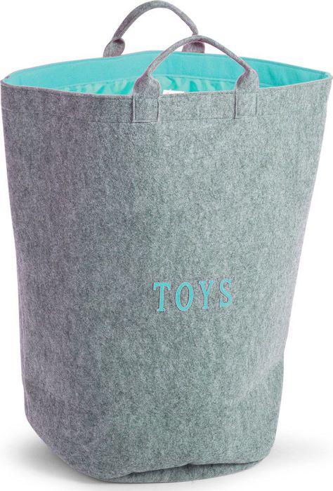 Childhome Vilten Speelgoedzak Rond Mint Blue (UL