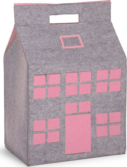 Childhome Vilten Toybag House - Soft Pink (UL)