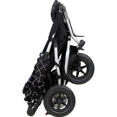 Mountain Buggy Duet As Single V3 + Familypack - Black, ingeklapt