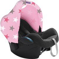 Dooky Hoody Zonnekap - Baby Pink/Pink Stars