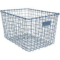 Basket Metal Large Blue - Stapelgoed