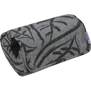 Dooky Arm Cushion Autostoel Armkussentje - Grey Black Leaves