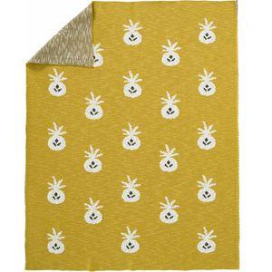 Fresk Gebreide Ledikantdeken - Pineapple Mustard