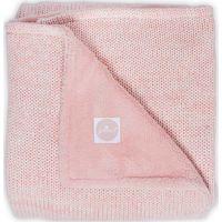 Jollein Deken 100x150cm Melange Knit Fleece - Soft Pink