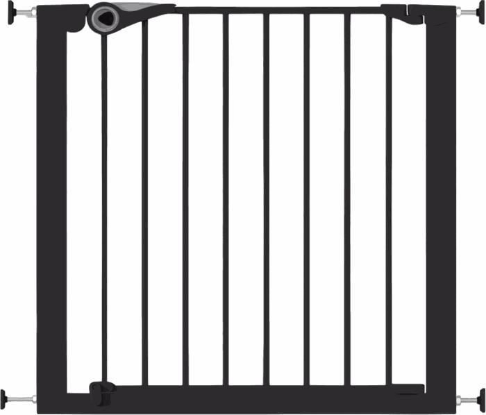 Noma Klem/Traphekje Pressure Fit Gate - Zwart